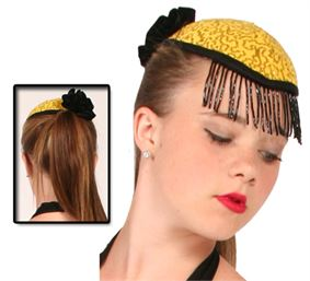 #HAT9 - Teardrop Hat with Beaded Fringe