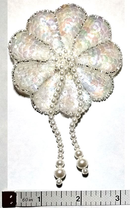 AP34- Beaded Flower